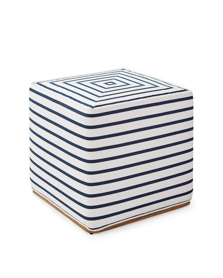 Navy And White Striped Dog Bed