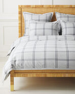 Alpine Flannel Duvet Cover, Fog/Smoke