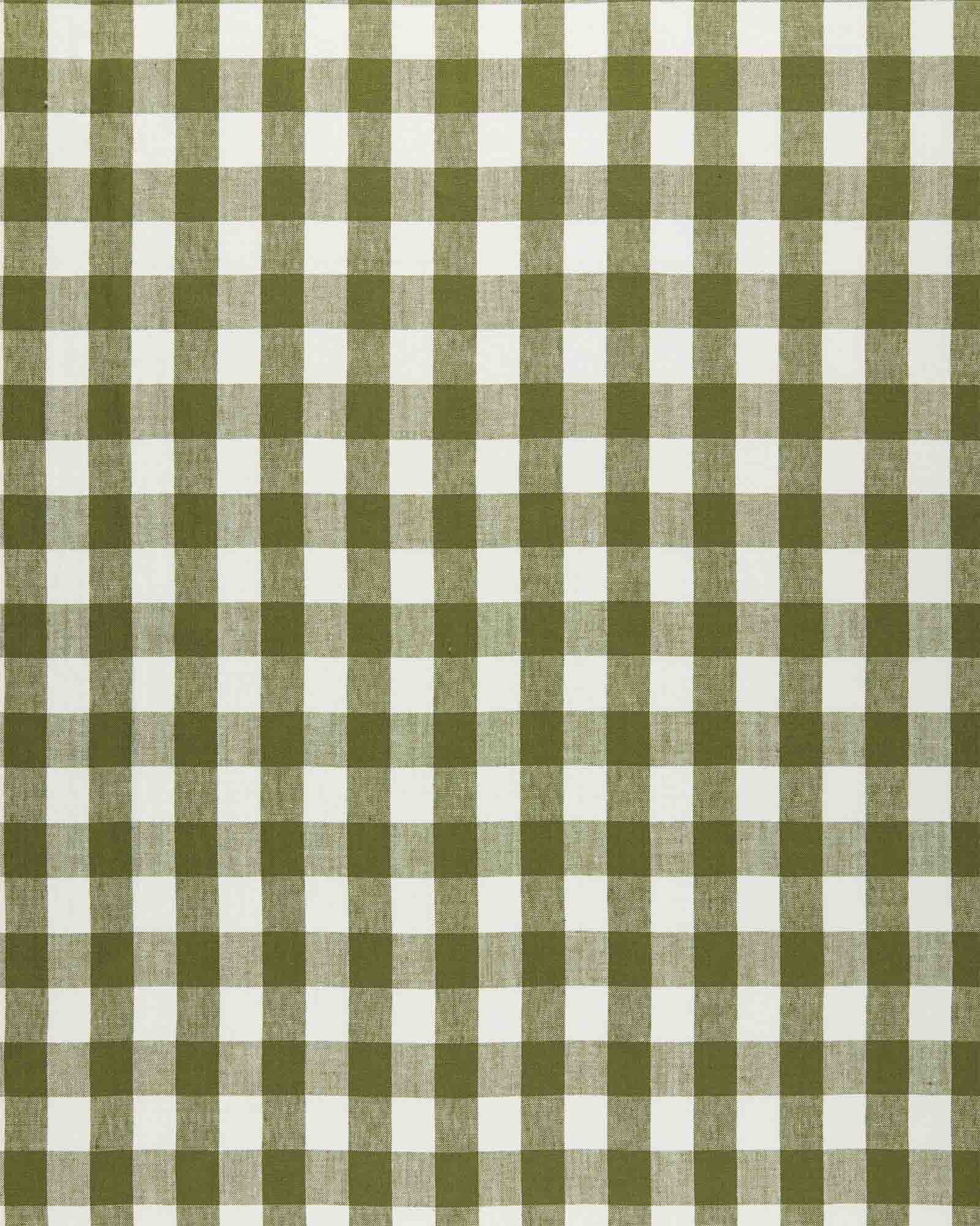 Fabric by the Yard - Classic Gingham Linen, Grove