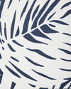 Palm Wallpaper Swatch, White/Navy