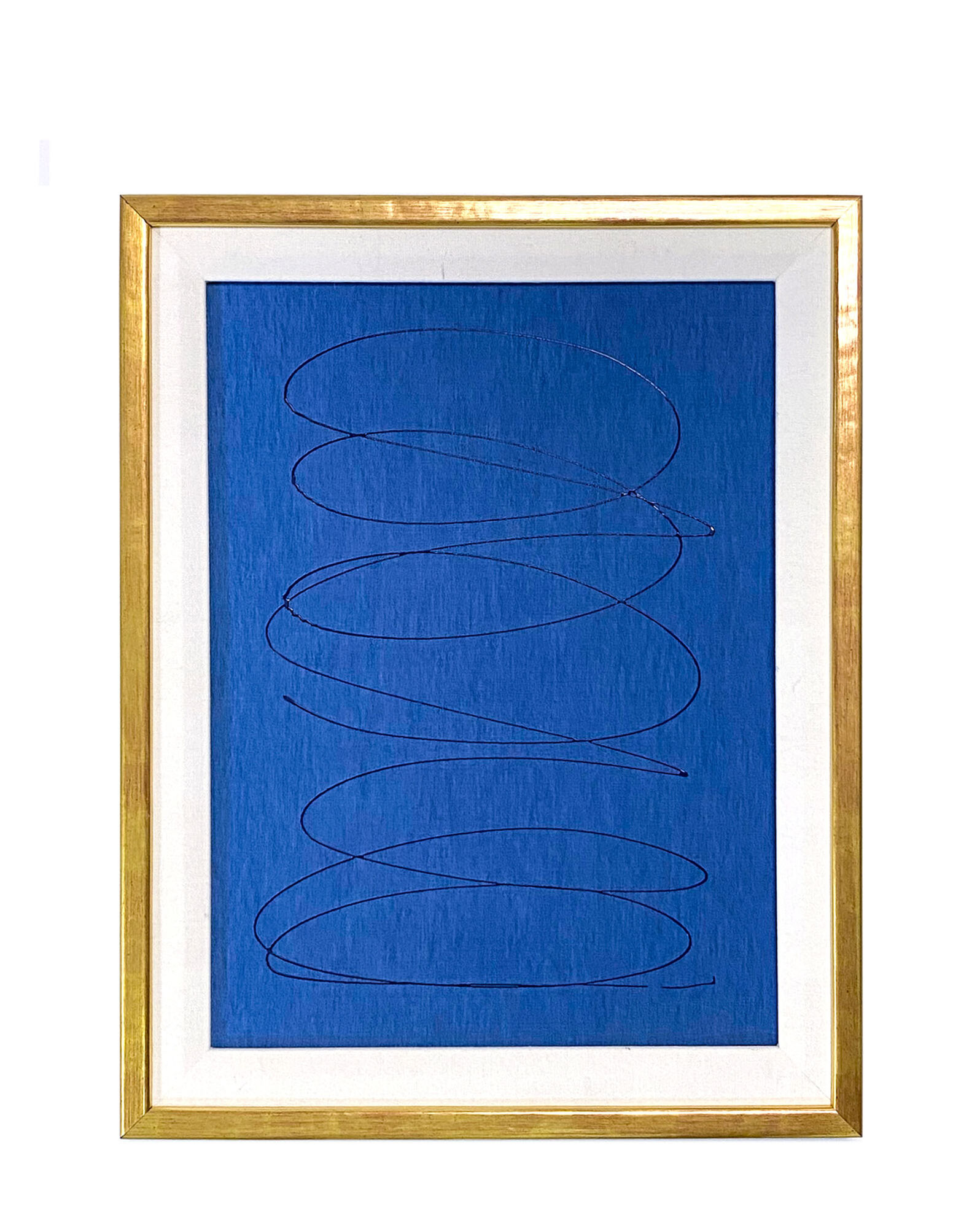 """""""Motion in Navy on Blue Silk #2"""" by Kayce Hughes,"""
