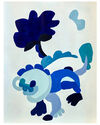 """""""True Blue Abstraction 5"""" by Neicy Frey,"""