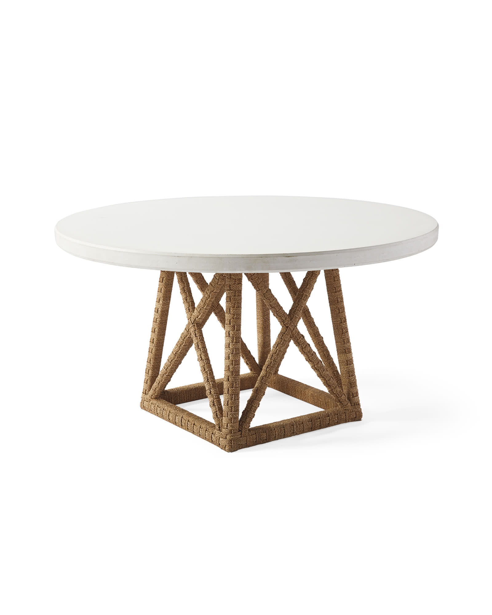 Thornhill Round Dining Table, White