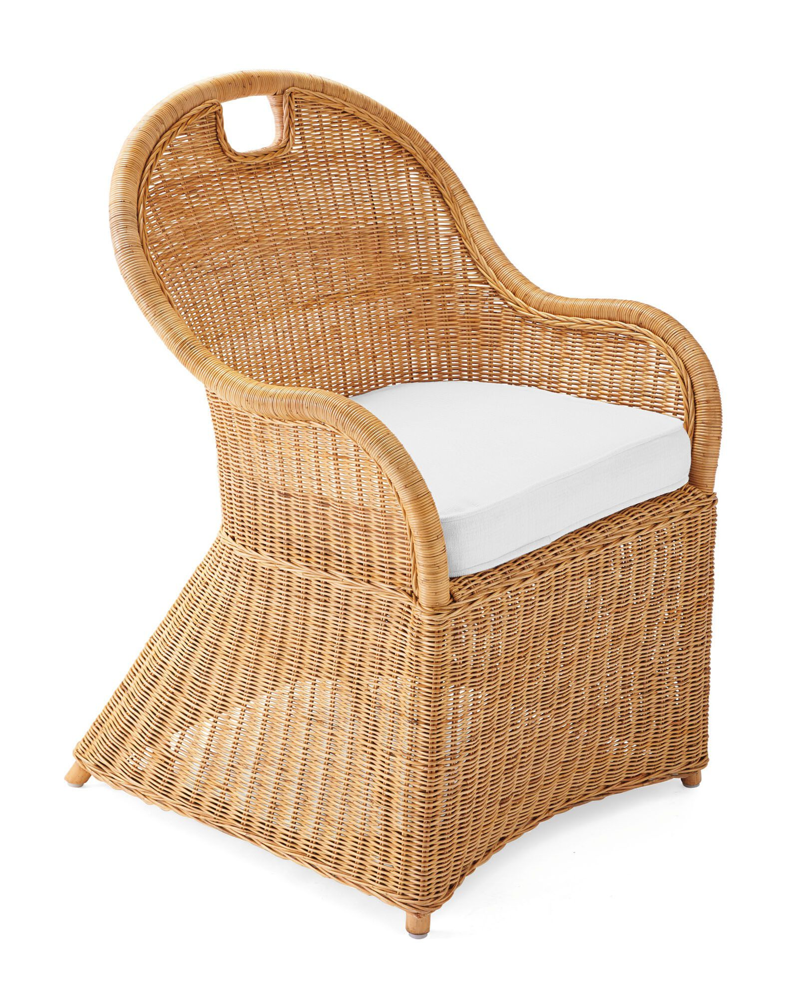 Cushion Cover for Shore Dining Chair & Counter Stool, Perennials Basketweave White