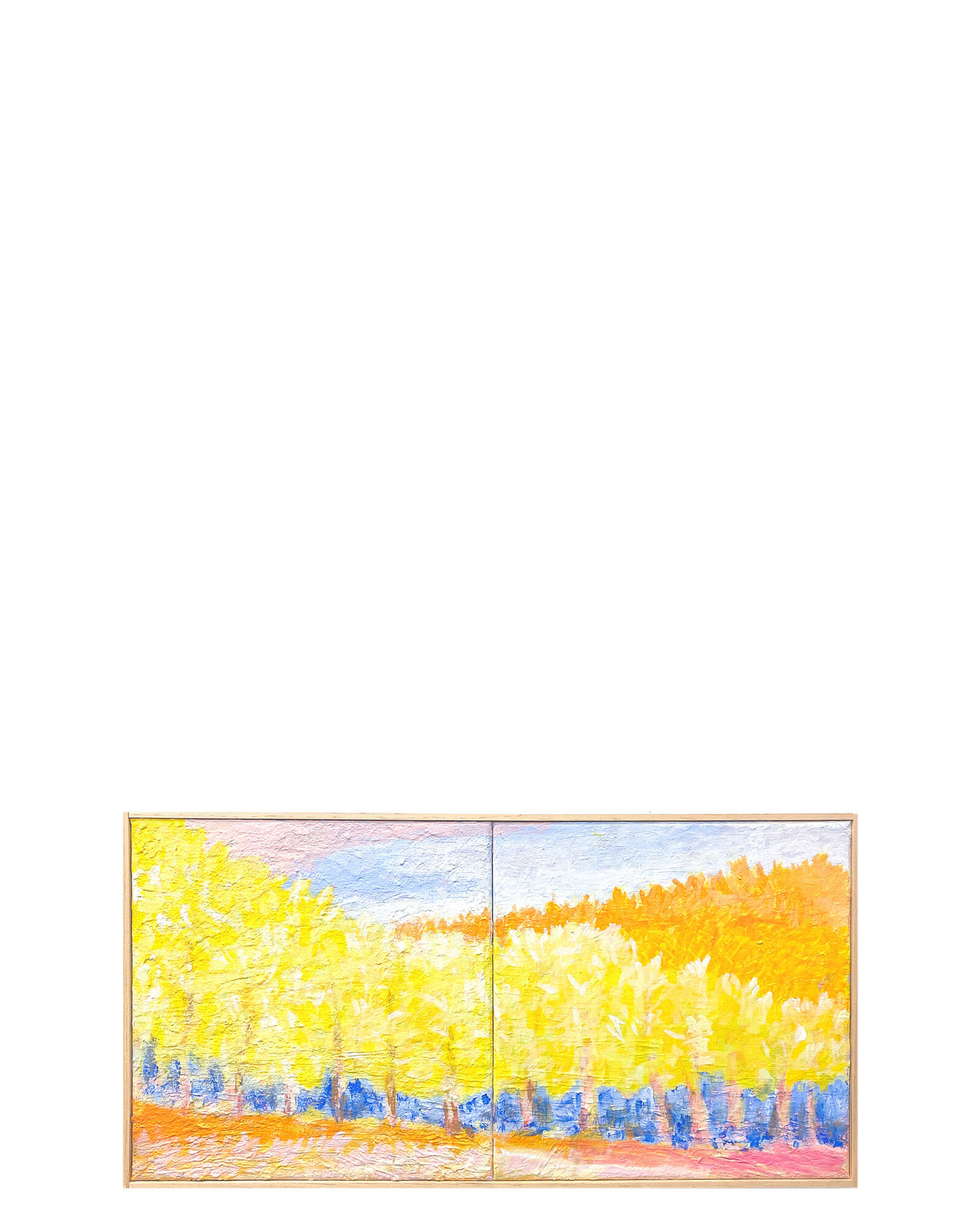 """""""A Yellow to Ponder, Diptych"""" by Ben Junta,"""
