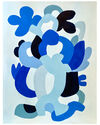"""""""True Blue Abstraction 6"""" by Neicy Frey,"""