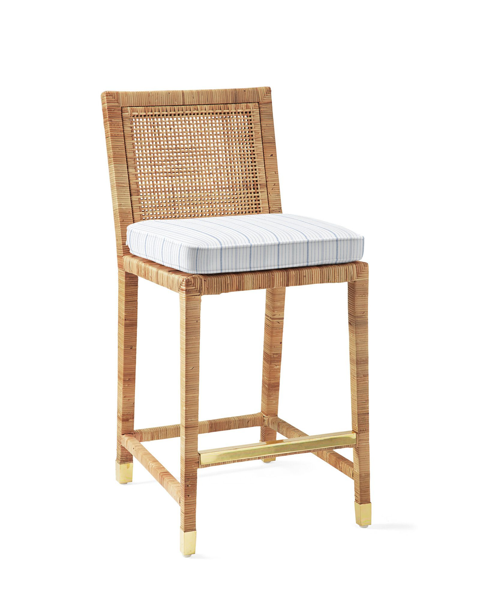 Cushion Cover for Balboa Counter Stool - Natural, Surf Stripe Navy