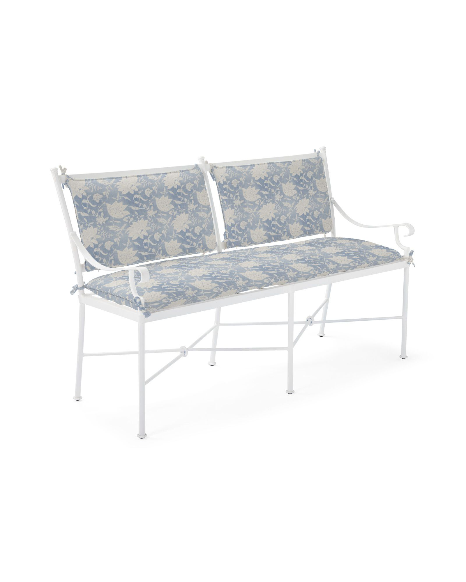 Cushion Cover for Gardener Bench, Deauville Coastal Blue