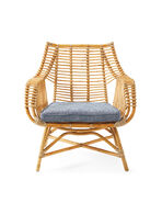 Venice Rattan Chair Cushion - Made To Order, Perennials Basketweave Indigo