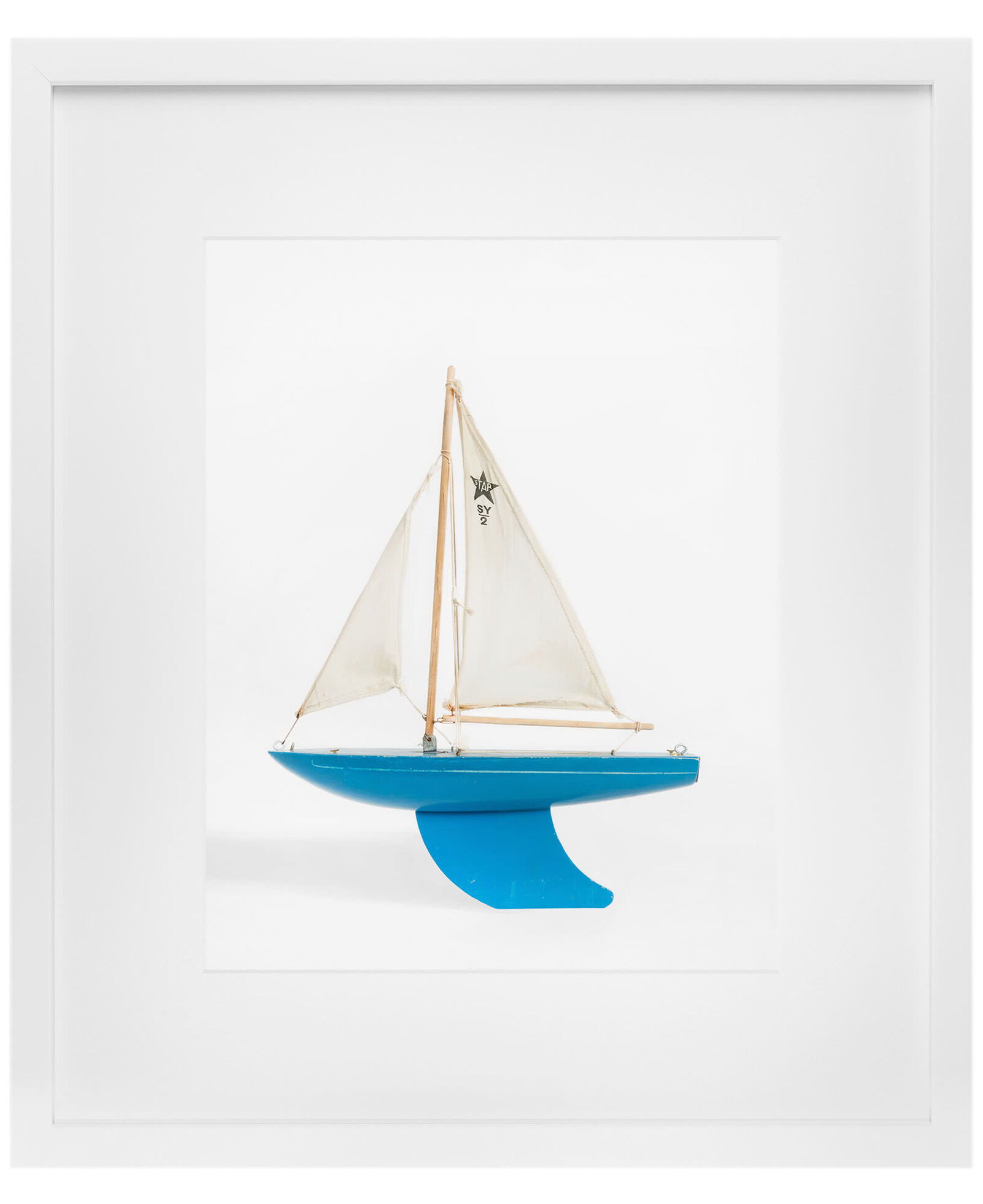 """""""Blue Boat"""" by Leslee Mitchell"""