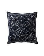 Camille Diamond Medallion Pillow Cover, Indigo