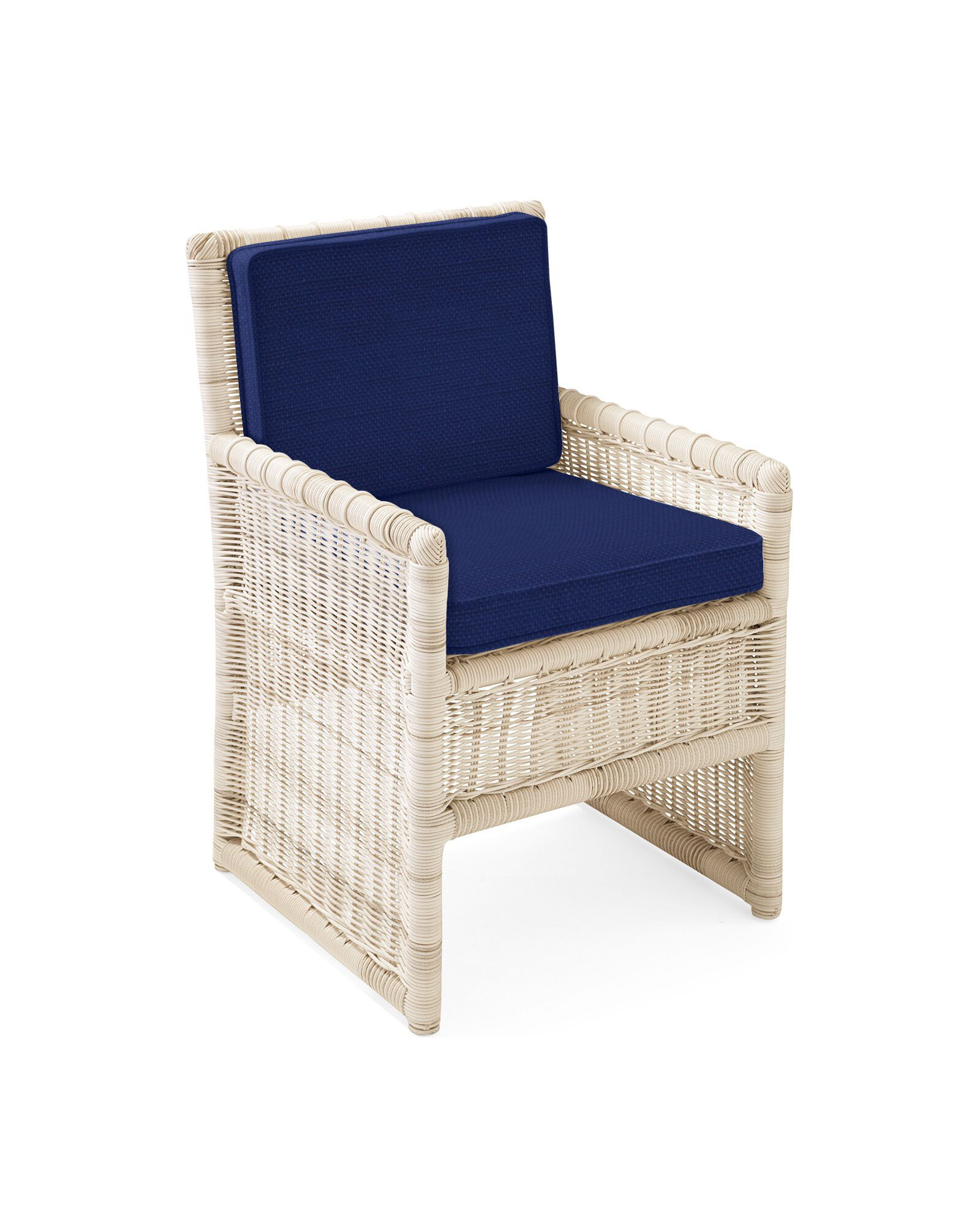 Cushion Cover for Pacifica Dining Chair, Perennials Basketweave Navy