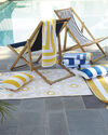 Sunbrella Island Stripe Outdoor Pillow Cover, Cobalt