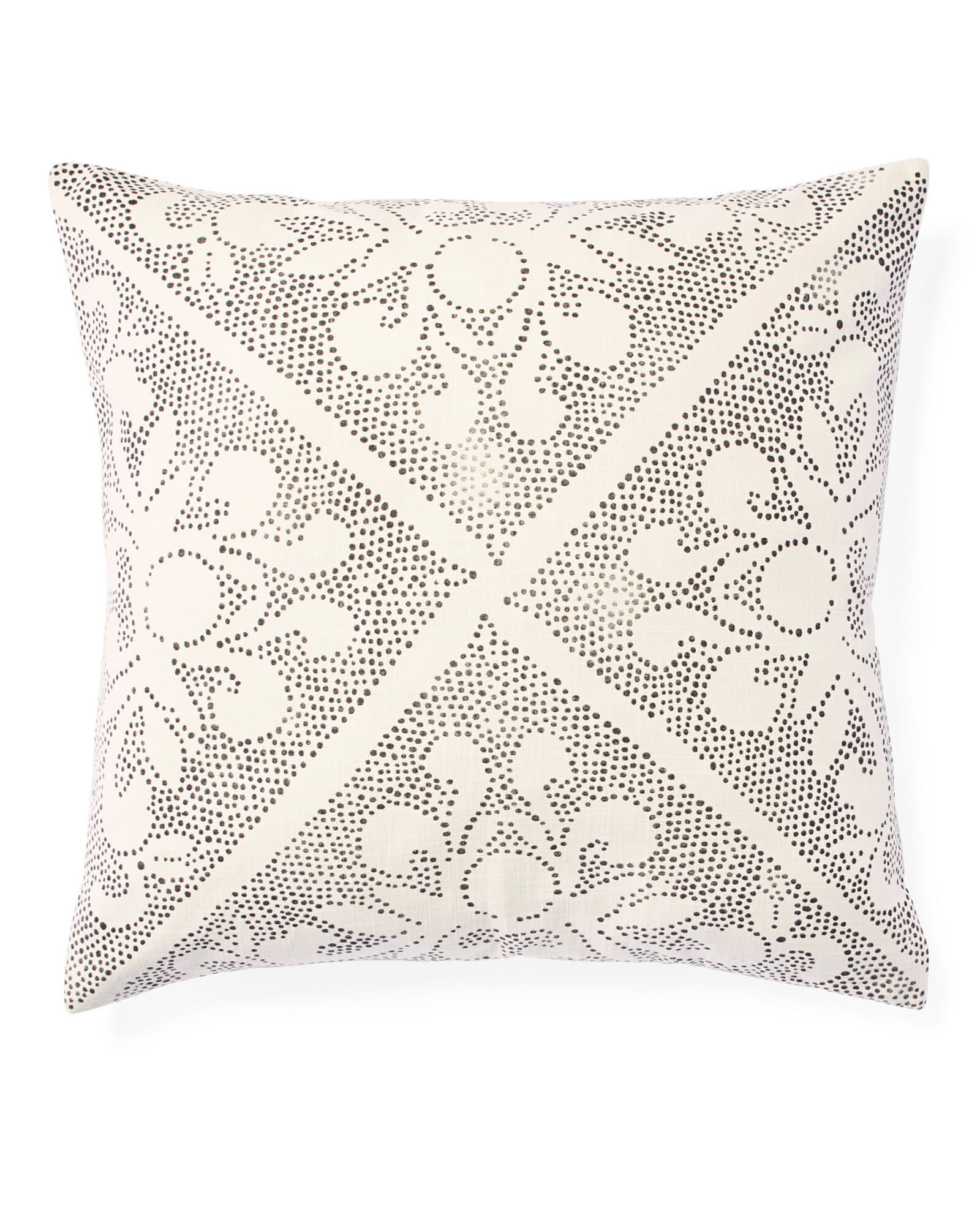 Camille Scroll Pillow Cover, Ivory