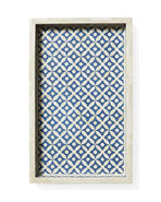 Portland Bone Inlay Tray, Blue