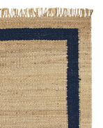Jute Border Rug Swatch, Navy