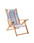 Teak Beach Chair, Beach Club Coastal Blue