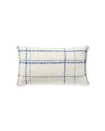 Stratton Pillow Cover, Ivory/Blue