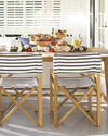 Director's Chair, Classic Stripe Navy/White