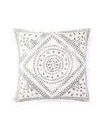 Camille Diamond Medallion Pillow Cover, Ivory