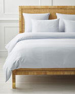 Soho Duvet Cover, Sky/White