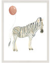 """""""Party Animals - Zebra"""" by Fours Are Yellow,"""