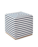 Rockport Square Ottoman, Lido Stripe Navy