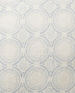 Cavallo Tile Bedding Swatch, Flax Chambray