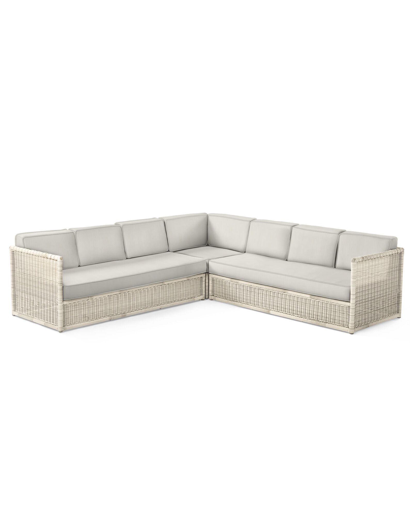 Cushion Cover for Pacifica Corner Sectional, Perennials Basketweave Chalk