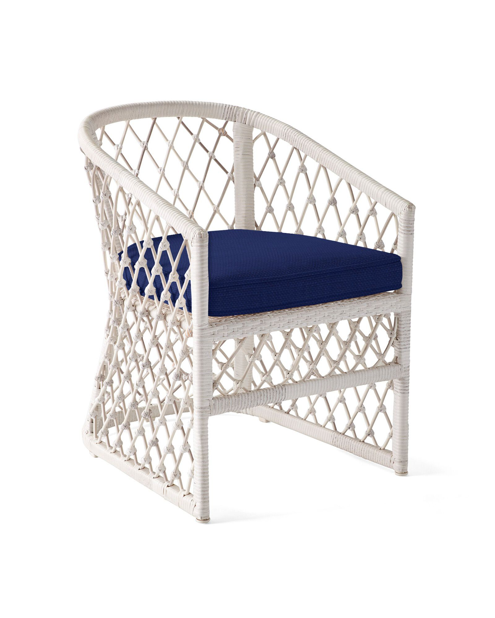 Cushion Cover for Capistrano Dining Chair, Perennials Basketweave Navy