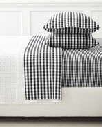 Gingham Pillowcases (Extra Set of 2), Black
