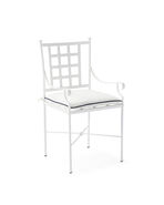 Gardener Dining Chair with White/Navy Cushion,
