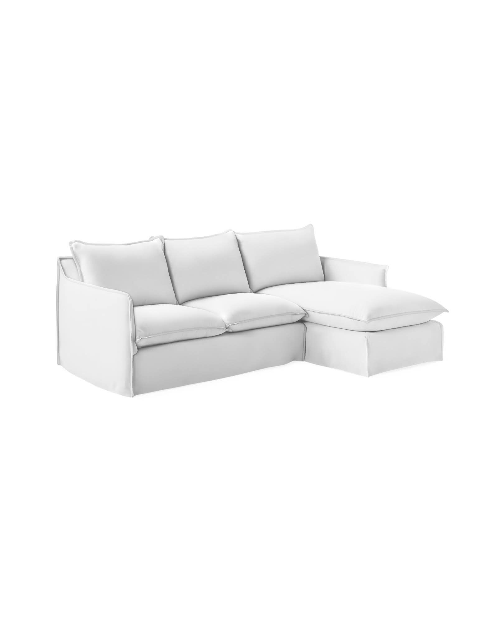 Sundial Outdoor Chaise Sectional - Right-Facing - Perennials® White Basketweave,