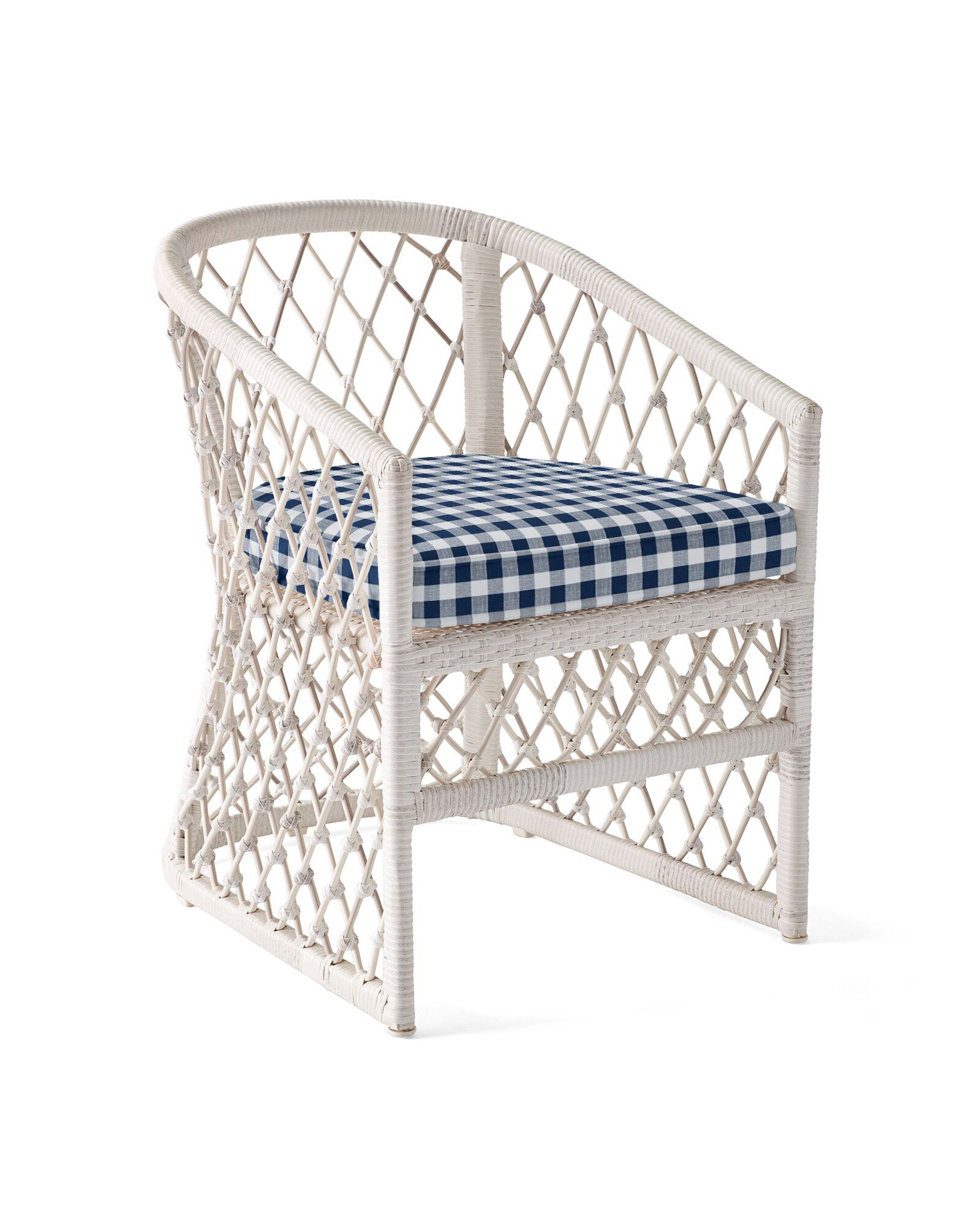 Cushion Cover for Capistrano Dining Chair, Perennials Classic Gingham Navy