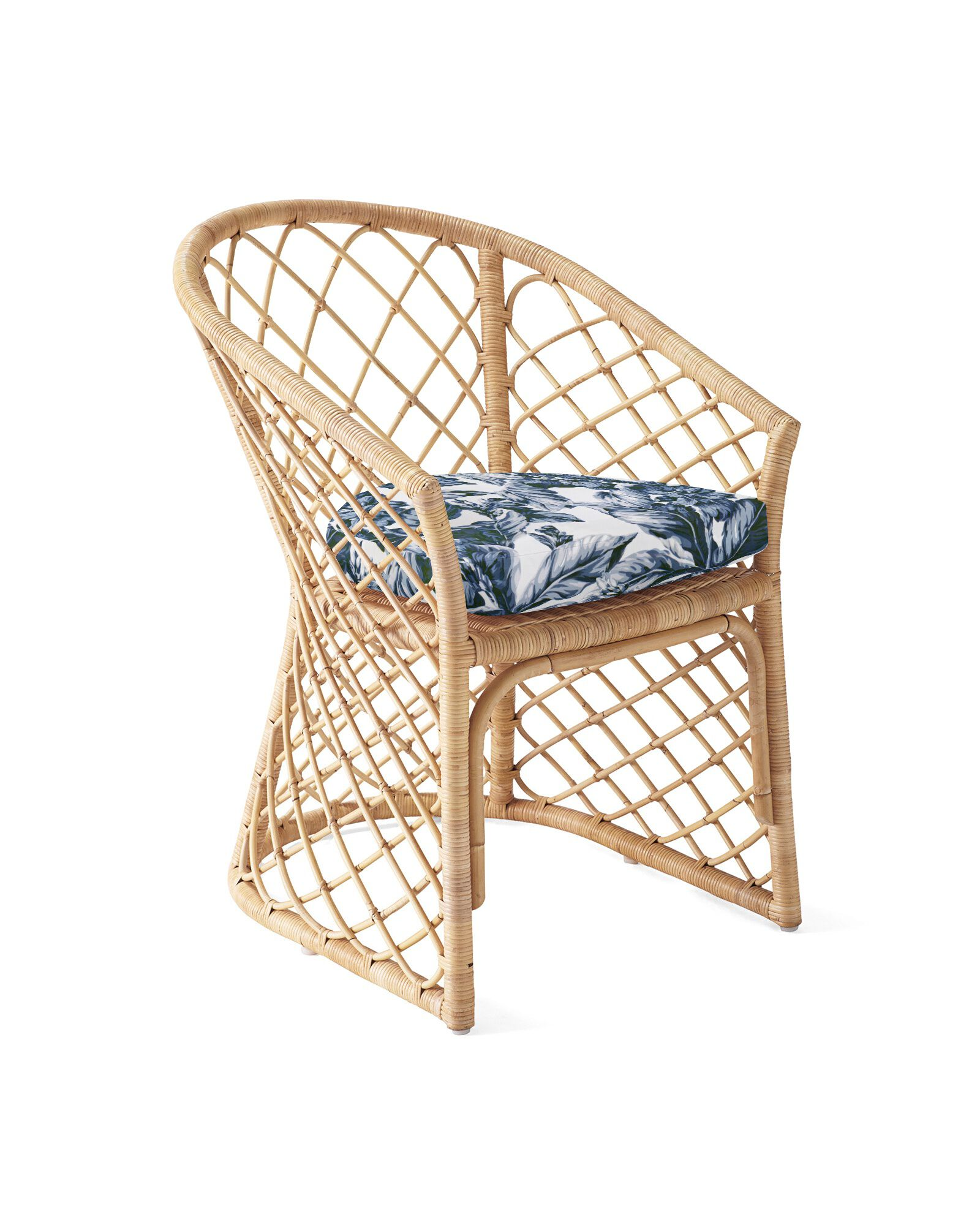 Cushion Cover for Avalon Dining Chair, Verano Linen - Navy