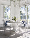 Terrace Round Dining Table, Fog/White