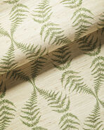Gardenside Grasscloth Wallcovering Swatch, Moss