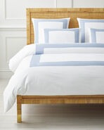 Beach Club Border Duvet Cover, Coastal Blue