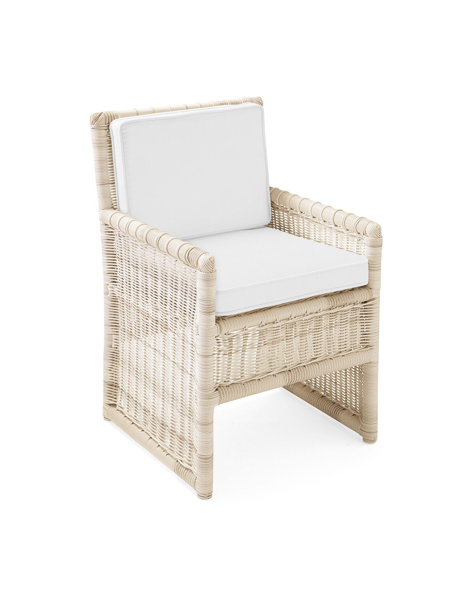 Cushion Cover for Pacifica Dining Chair, Perennials Basketweave White
