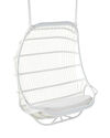 Outdoor Double Hanging Chair Cushion - White Sunbrella® Canvas,