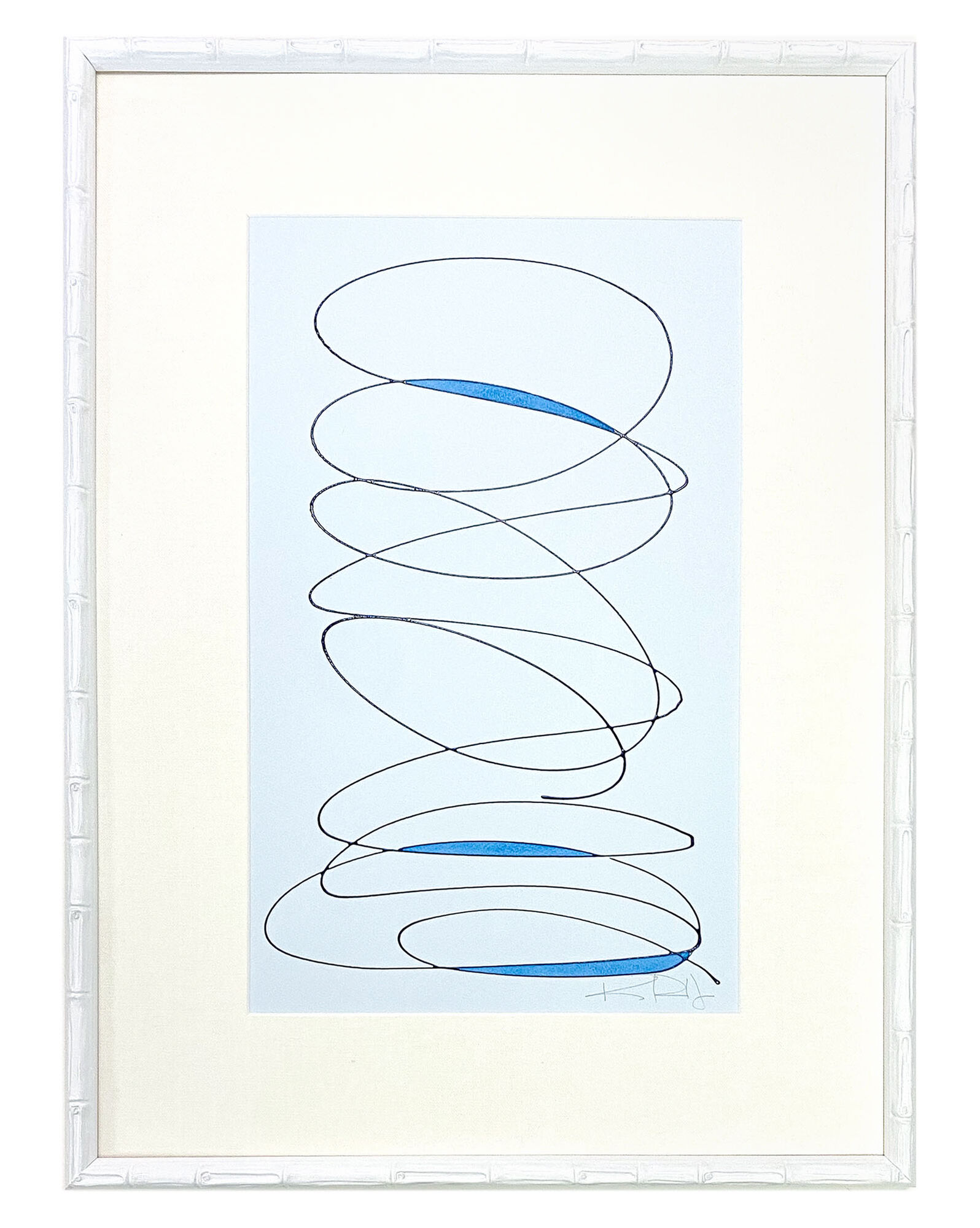 """""""Motion in Blues #1"""" by Kayce Hughes,"""