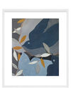 """""""Italian Swallows"""" by Rob Delamater, White Frame"""