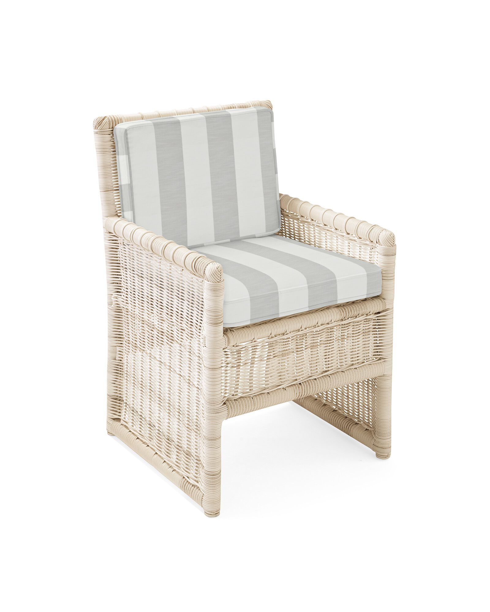 Cushion Cover for Pacifica Dining Chair, Beach Stripe Smoke