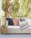 Sunbrella® Sail Stripe Pillow Cover, Terracotta