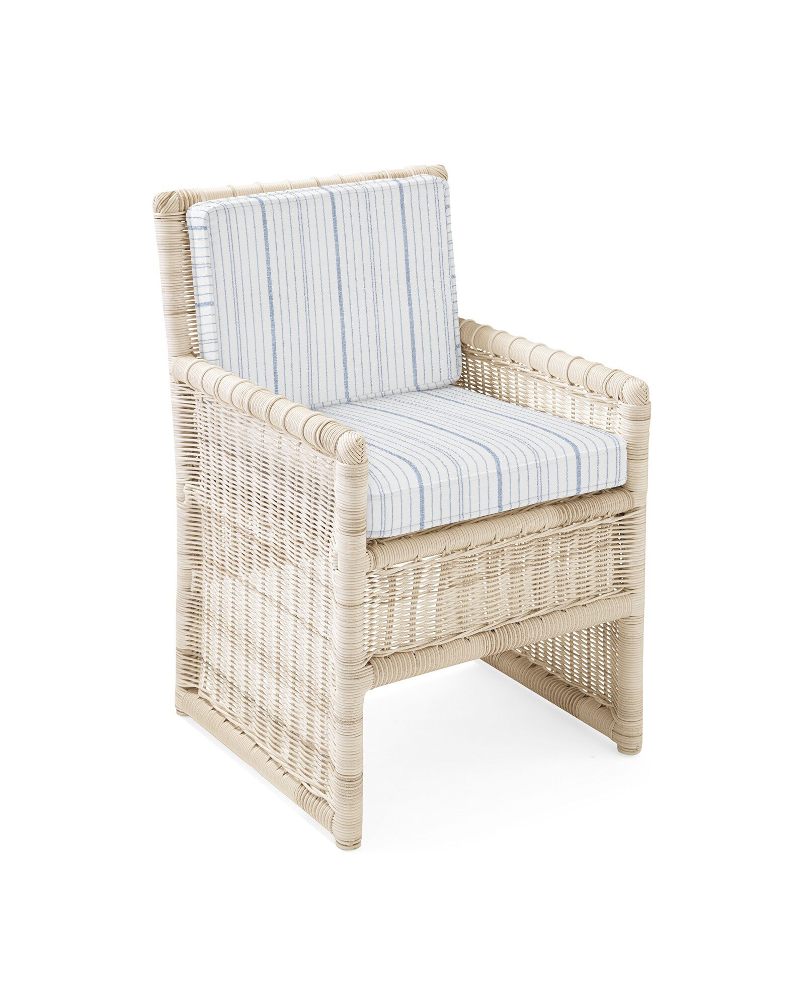 Cushion Cover for Pacifica Dining Chair, Surf Stripe Navy