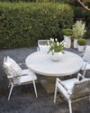 Terrace Round Dining Table, White/Fog
