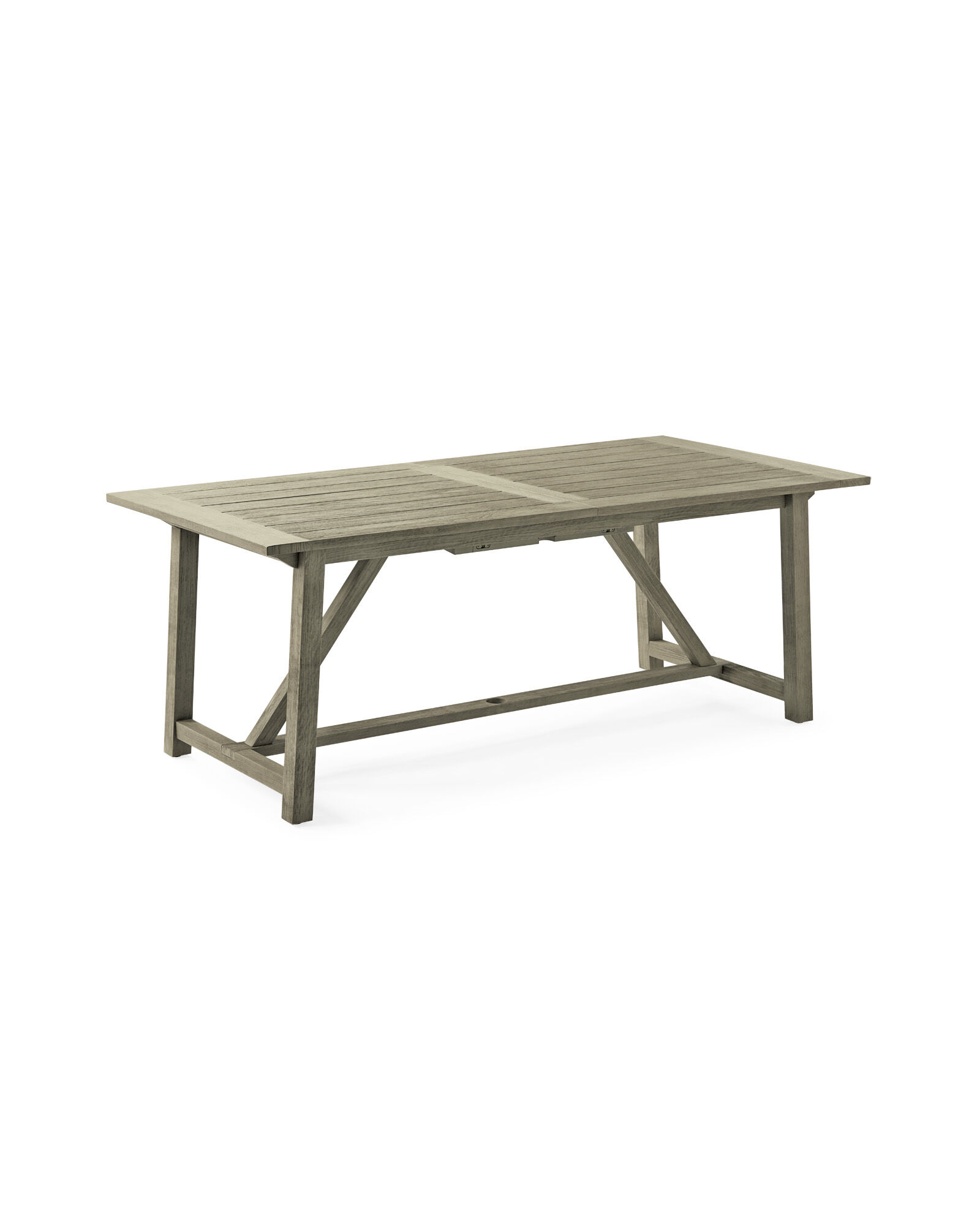 Crosby Teak Expandable Dining Table – Vintage Grey,