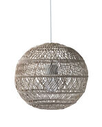 Summerland Outdoor Round Pendant, Harbor Grey