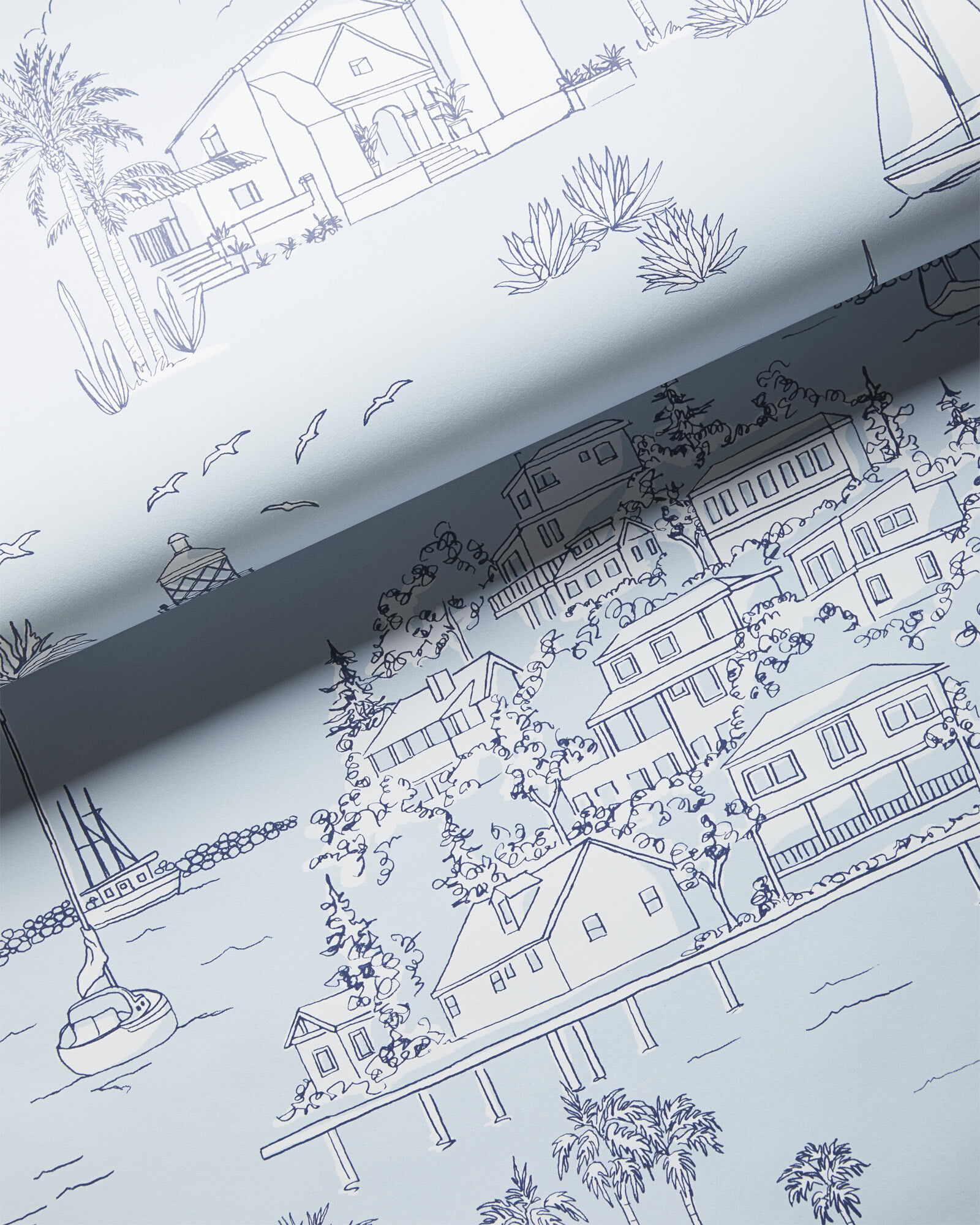 Westwind Toile Wallpaper,