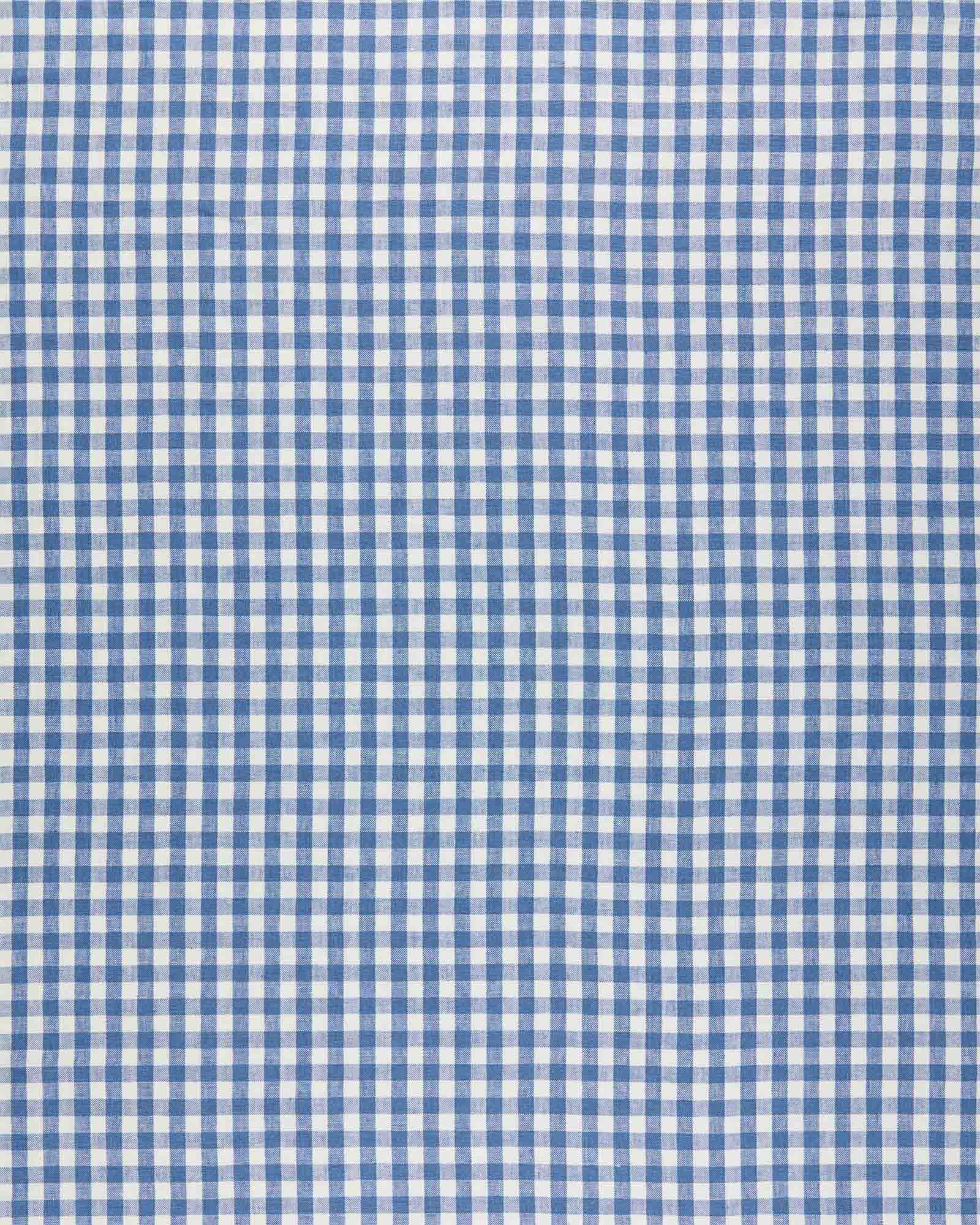 Fabric by the Yard - Petite Gingham Linen, French Blue